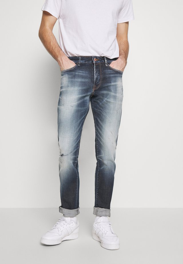 JJIGLENN SELVEDGE - Jeansy Slim Fit - blue denim