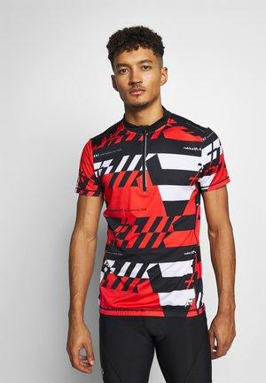 RAKSILA - T-shirt z nadrukiem - classic red