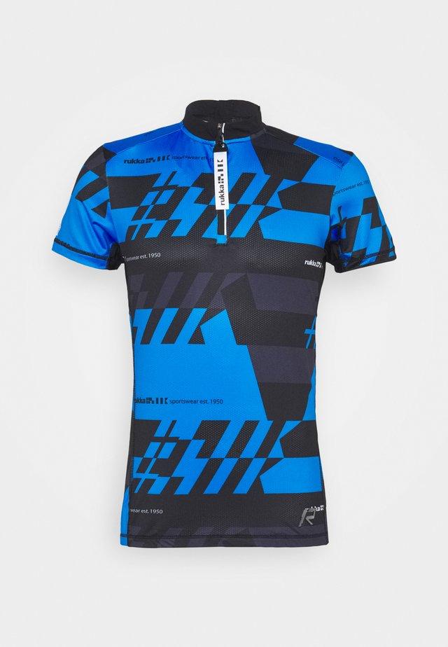 RAKSILA - T-shirts med print - blue