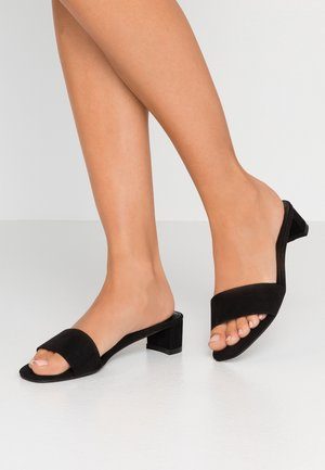 DAKOTA LOW MULE HEEL - Pantolette flach - black
