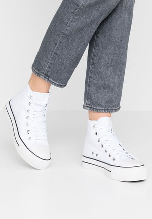 PLATFORM JEMMA TOP - Sneakers high - white