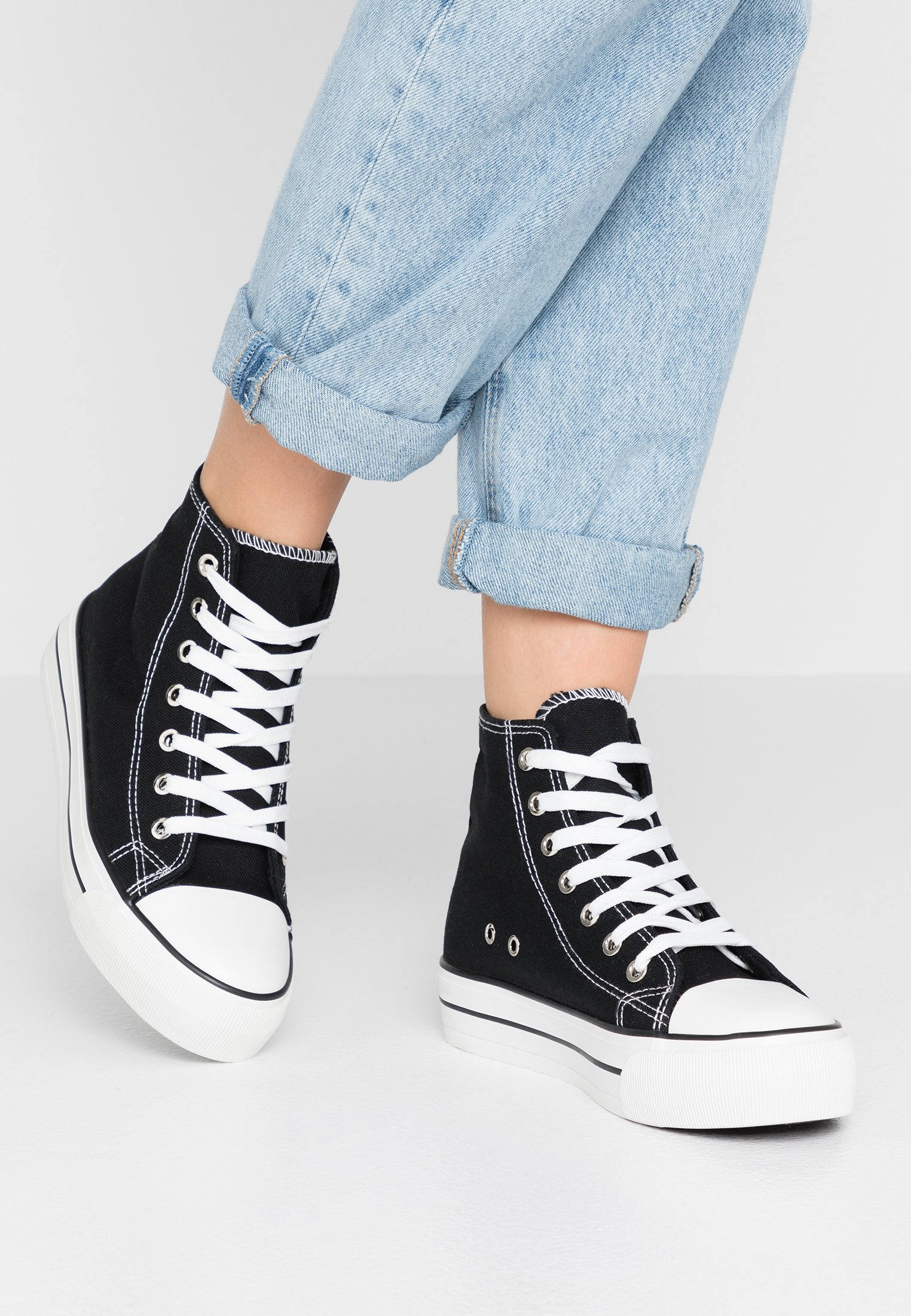 Rubi Shoes by Cotton On PLATFORM JEMMA TOP - Höga sneakers - black