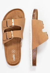 Rubi Shoes by Cotton On - REX DOUBLE BUCKLE SLIDE - Tohvelit - camel - 3