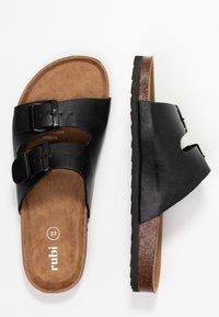 Rubi Shoes by Cotton On - REX DOUBLE BUCKLE SLIDE - Hjemmesko - black - 3