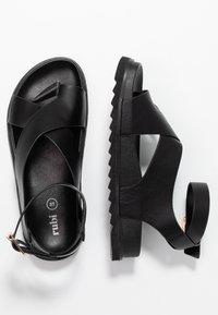 Rubi Shoes by Cotton On - IVY TOE LOOP CHUNKY  - Sandalias de dedo - black - 3