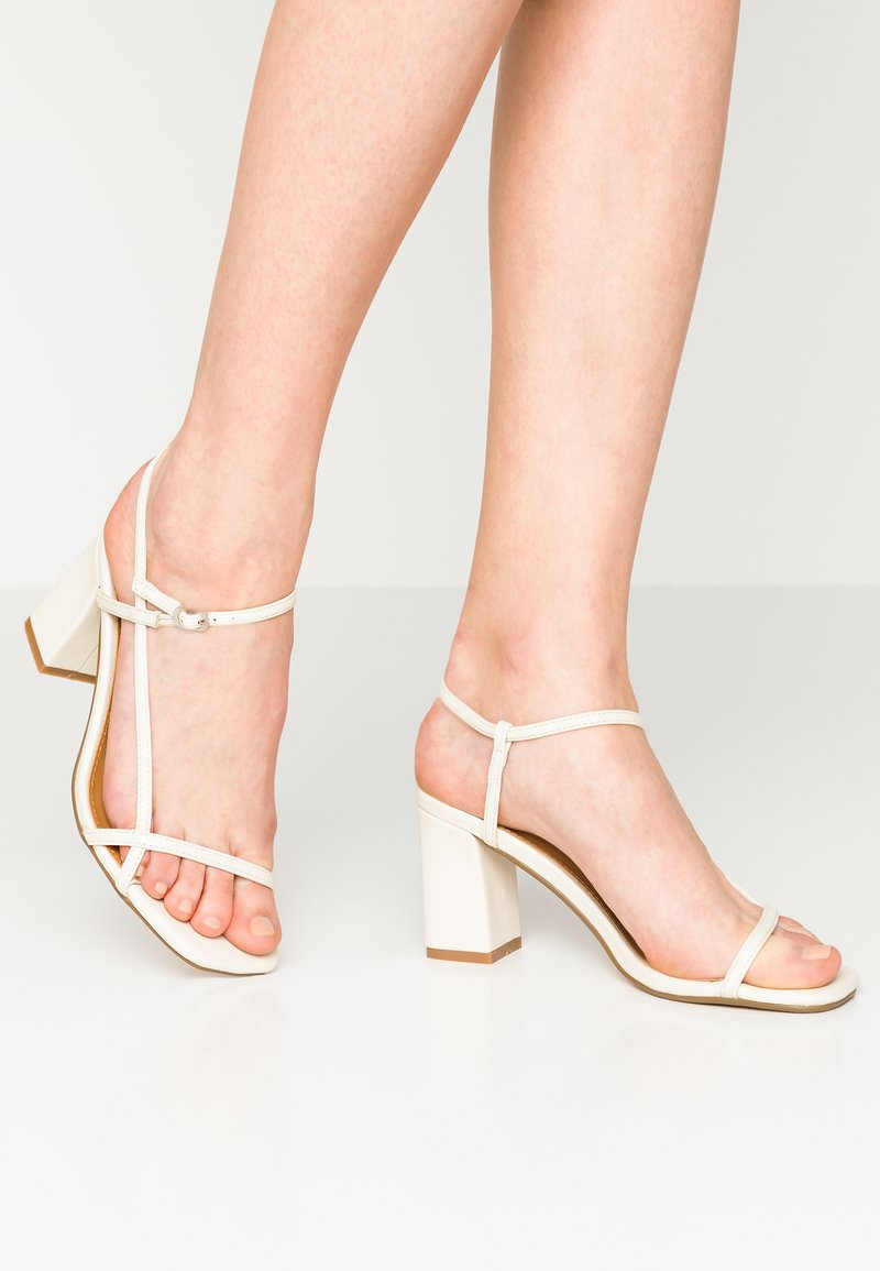 Rubi Shoes by Cotton On - HANNAH THIN STRAP HEEL - Sandály - stone