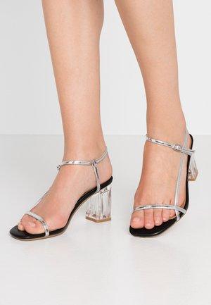 HANNAH THIN STRAP HEEL - Sandals - silver