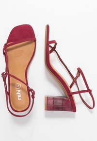Rubi Shoes by Cotton On - HANNAH THIN STRAP HEEL - Sandály - cabernet - 3
