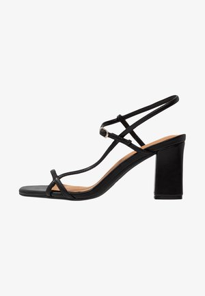 HANNAH THIN STRAP HEEL - Sandály - black smooth