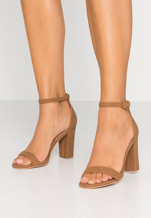 SAN LUIS - High heeled sandals - tan