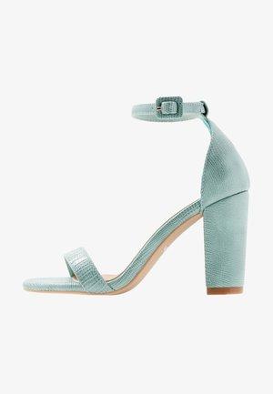 SAN LUIS - High heeled sandals - sage green