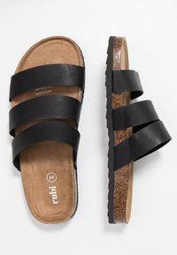 Rubi Shoes by Cotton On - REX TRIPLE STRAP SLIDE - Domácí obuv - black - 3