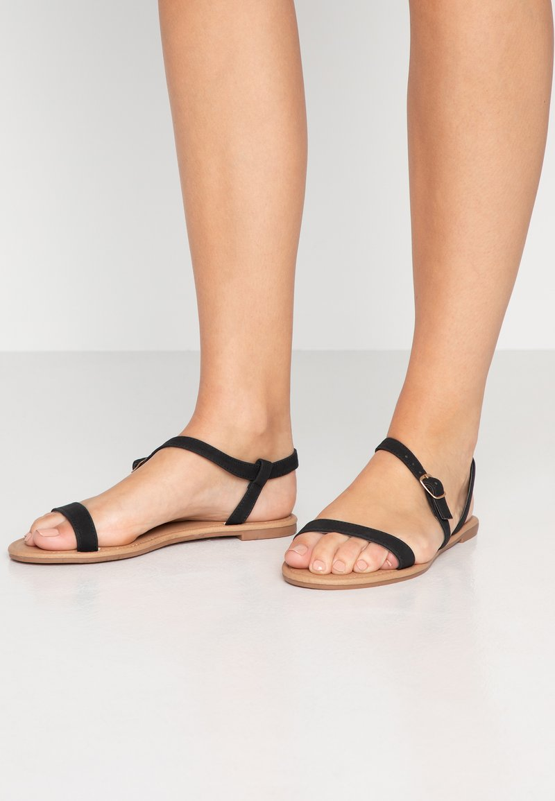 Rubi Shoes by Cotton On - EVERYDAY BELLA WRAP  - Sandaalit nilkkaremmillä - black