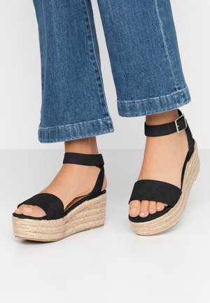 CAITLIN WEDGE HEEL - Platform sandals - black