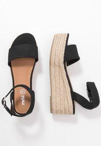 Rubi Shoes by Cotton On - CAITLIN WEDGE HEEL - Sandały na platformie - black - 3