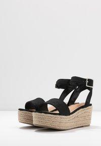 Rubi Shoes by Cotton On - CAITLIN WEDGE HEEL - Sandały na platformie - black - 4