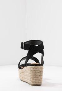 Rubi Shoes by Cotton On - CAITLIN WEDGE HEEL - Sandały na platformie - black - 5