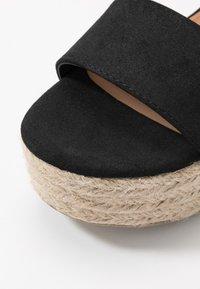 Rubi Shoes by Cotton On - CAITLIN WEDGE HEEL - Sandały na platformie - black - 2