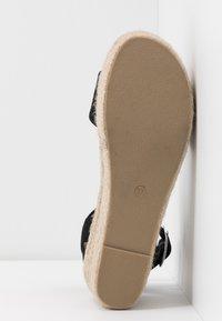 Rubi Shoes by Cotton On - CAITLIN WEDGE HEEL - Sandały na platformie - black - 6