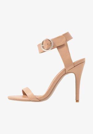 SKYLAR STILLETTO - Sandály na vysokém podpatku - light taupe smooth