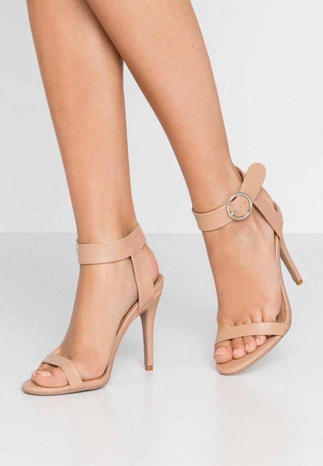 SKYLAR STILLETTO - High heeled sandals - light taupe smooth