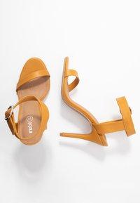 Rubi Shoes by Cotton On - SKYLAR STILLETTO - High heeled sandals - mustard - 3