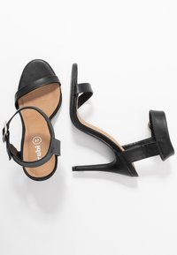 Rubi Shoes by Cotton On - SKYLAR STILLETTO - High heeled sandals - black smooth - 3
