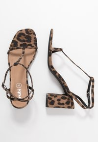 Rubi Shoes by Cotton On - MILA DOUBLE STRAP HEEL - Sandalias - brown - 3