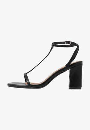 MILA DOUBLE STRAP HEEL - Sandals - black