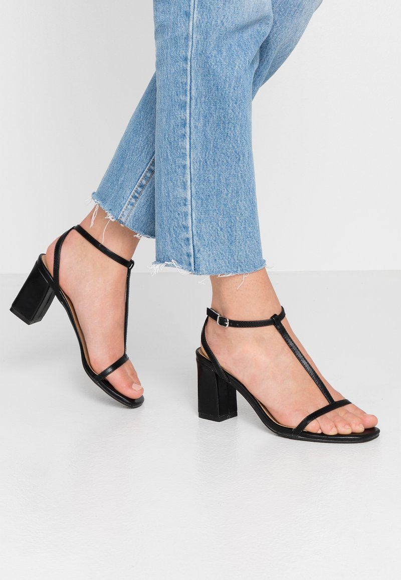 Rubi Shoes by Cotton On - MILA DOUBLE STRAP HEEL - Sandals - black