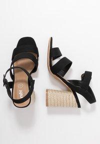Rubi Shoes by Cotton On - SANTAL STRAPPY - Sandalen met hoge hak - black - 3