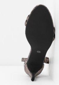 Rubi Shoes by Cotton On - SHARI DOUBLE STRAP STILLETO - High heeled sandals - metallic - 6