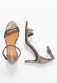 Rubi Shoes by Cotton On - SHARI DOUBLE STRAP STILLETO - High heeled sandals - metallic - 3