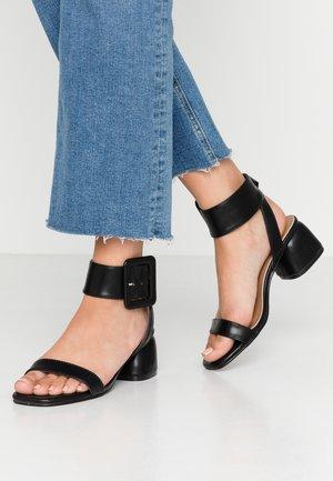BELLE BUCKLE - Sandals - black