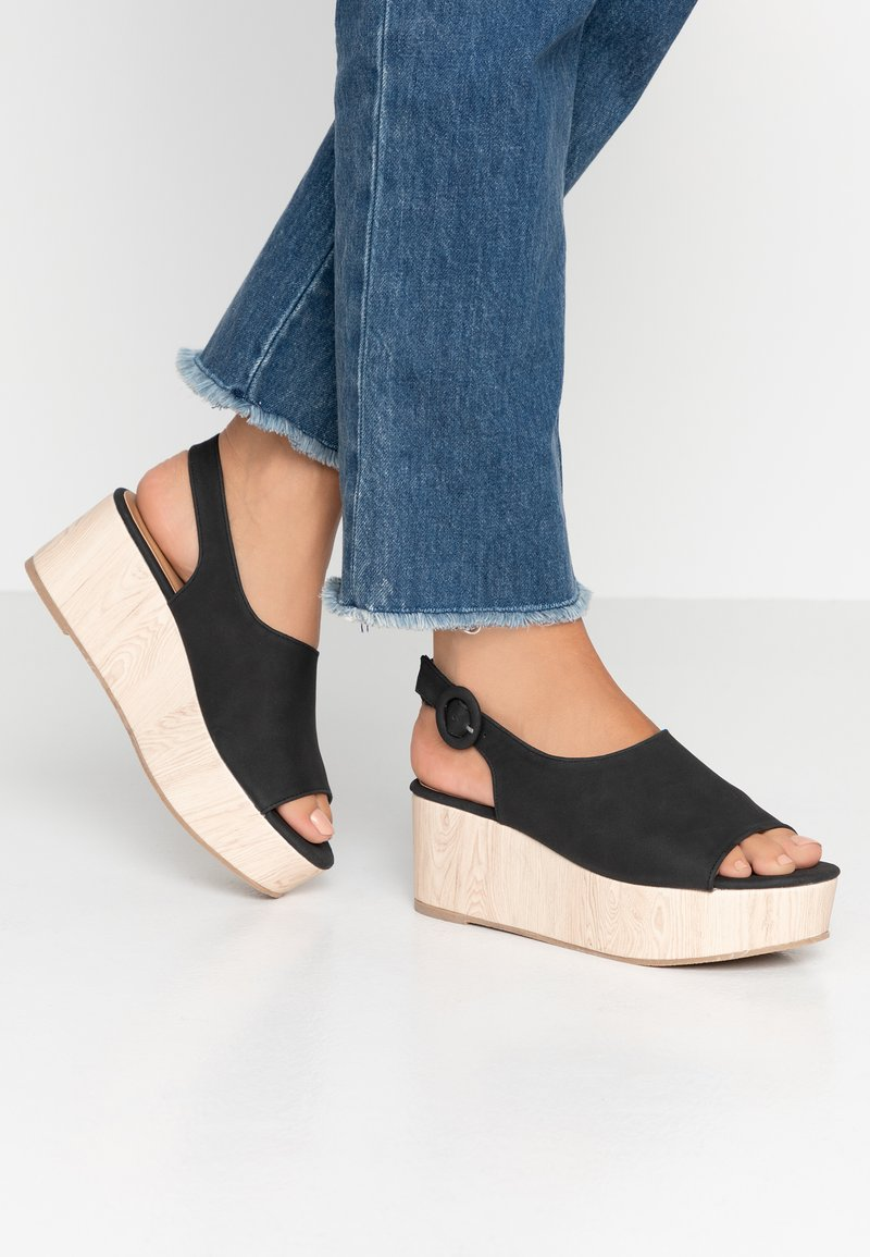 Rubi Shoes by Cotton On - COURTNEY WEDGE - Dřeváky - black