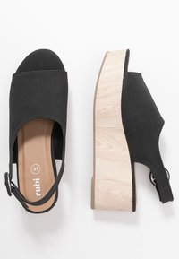Rubi Shoes by Cotton On - COURTNEY WEDGE - Dřeváky - black - 3