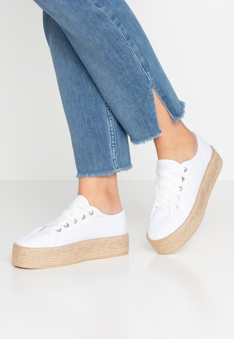 Rubi Shoes by Cotton On - WILLOW PLATFORM - Espadrilles - bright white