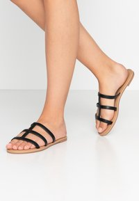 Rubi Shoes by Cotton On - EVERYDAY CAGED SLIDE - Matalakantaiset pistokkaat - black - 0