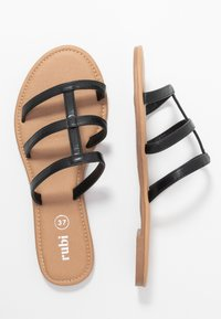 Rubi Shoes by Cotton On - EVERYDAY CAGED SLIDE - Matalakantaiset pistokkaat - black - 3