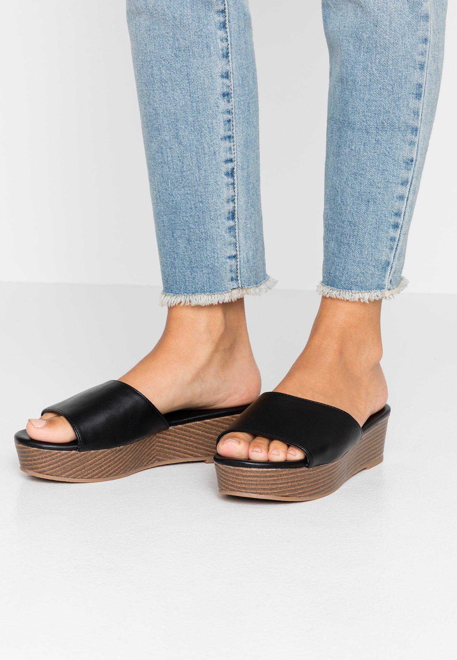 Rubi Shoes By Cotton On Phoebe Flatform - Muiltjes Met Hak Black