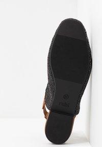 Rubi Shoes by Cotton On - OLIVIA SQUARE TOE SLINGBACK - Baleríny s otevřenou patou - black/tan - 6