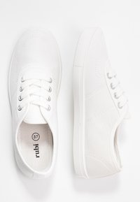 Rubi Shoes by Cotton On - PHOEBE LACE UP PLIMSOLL - Tenisky - white - 3