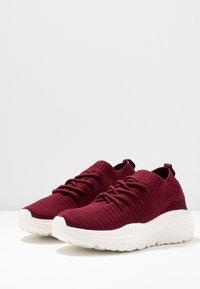 Rubi Shoes by Cotton On - FREYA SOCK TRAINER - Tenisky - deep maroon - 4