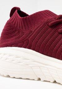 Rubi Shoes by Cotton On - FREYA SOCK TRAINER - Tenisky - deep maroon - 2