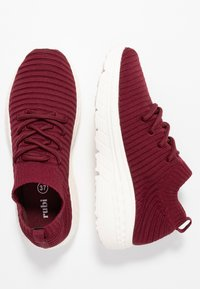 Rubi Shoes by Cotton On - FREYA SOCK TRAINER - Tenisky - deep maroon - 3
