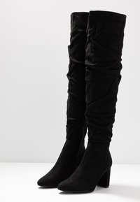 Rubi Shoes by Cotton On - WILLA HEELED SLOUCH BOOT - Ylipolvensaappaat - black - 4