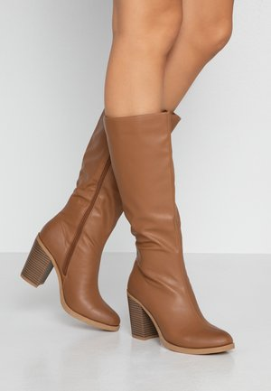 NATALIE KNEE BOOT - High heeled boots - tan