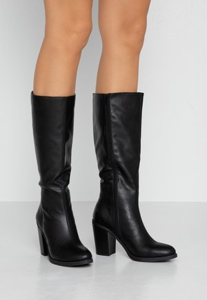 NATALIE KNEE BOOT - High heeled boots - black smooth