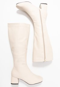 Rubi Shoes by Cotton On - CAMILLA SQUARE TOE KNEE HIGH BOOT - Saappaat - stone smooth - 3