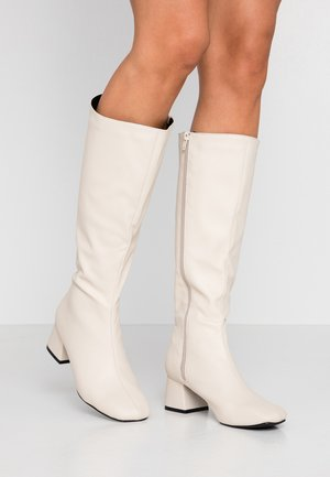 CAMILLA SQUARE TOE KNEE HIGH BOOT - Boots - stone smooth